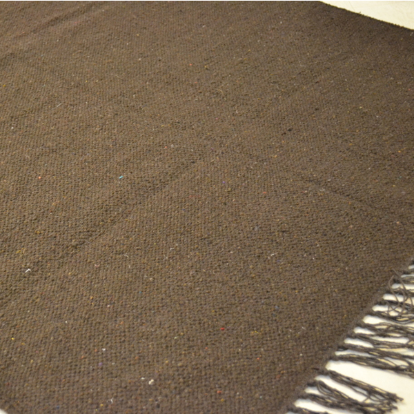 Plain Cotton Rug Brown Rugsite